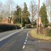 A bend in the B4012