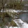 Footbridge across the River Dove