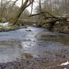 Footbridge across the River Dove #2