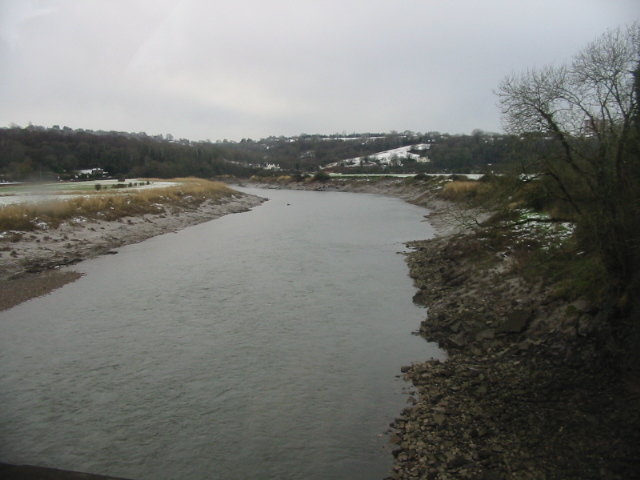View SW along the River Usk
