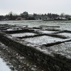 The remains of the Roman barracks at Caerleon