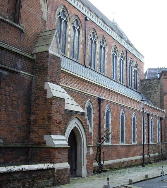 Entrance to St Cuthbert's Church Philbeach Gardens