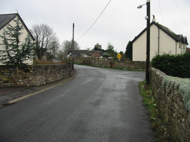 Lane leading from A48 into Caerwent