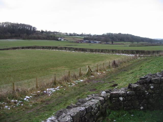 Rodge Farm taken from the Roman walls of Venta Silurum