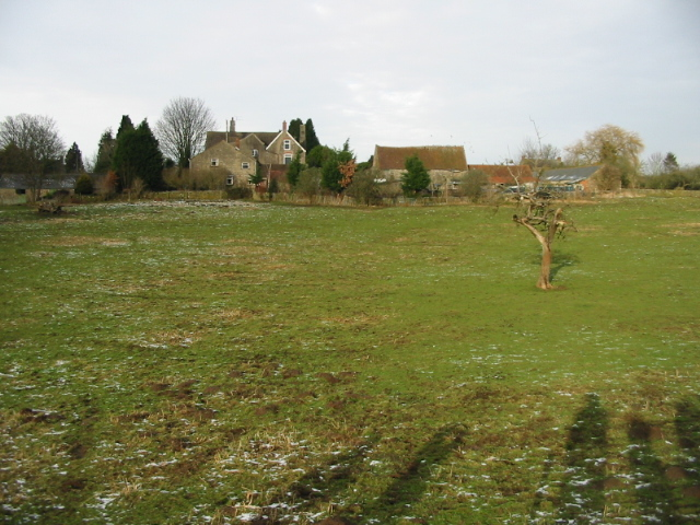 View across field to Great House Farm
