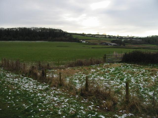 View SW towards Rodge Farm