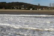 Frozen Surf on Blackpill Foreshore