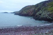 Purple sandstone at Caer Bwdy