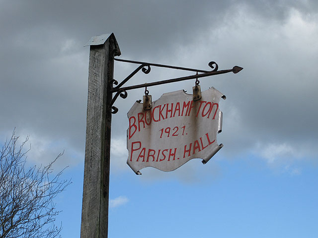 Brockhampton Parish Hall sign