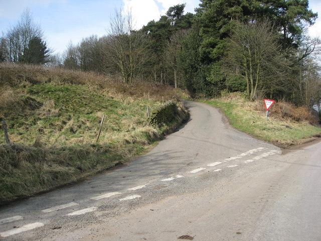 Lane Junction near Colebrook Farm