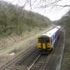 Train approaching Padley Wood Bridge (TCC-80)