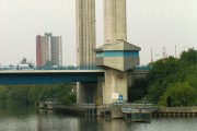 Millennium Road Bridge to Trafford Park from Manchester Ship Canal