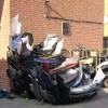 Scrapped car bumpers, Wharf Street, Warwick