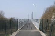 Pedestrian footbridge ramp