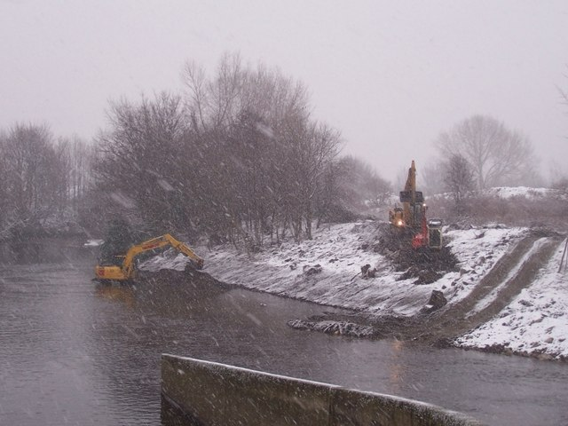 Dredging the Don in the snow at Jordan