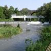 Edmondscote weir, River Leam, Leamington Spa