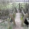 Footbridge within Ashford Hill Meadows Nature Reserve