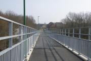 New pedestrian bridge ramp