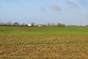 View toward Llanbethery across field