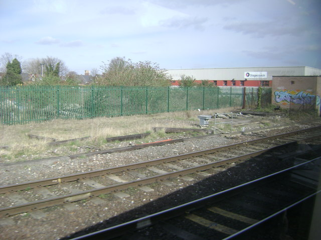 Approaching Leamington station