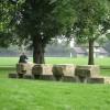 Stone stack, Victoria Park, Leamington Spa