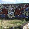 Legal graffiti, private road off Station Approach, Leamington Spa