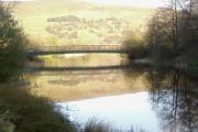 Bridge over Cwmcelyn Pond, Blaina.