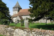 View of Elmsted church