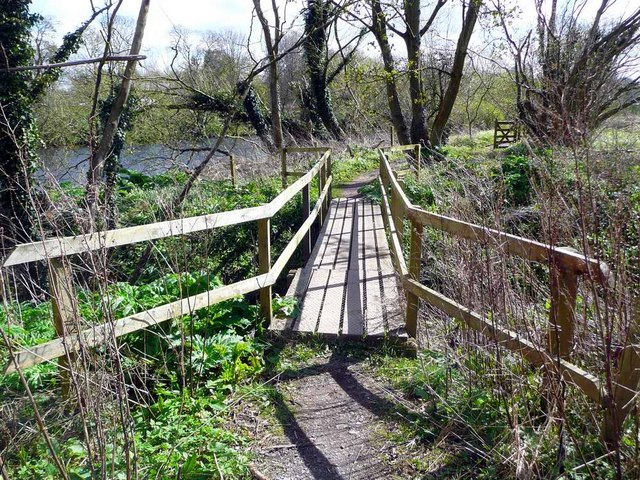 Footbridge on the River Ayr Way