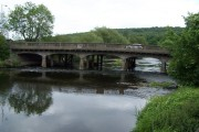 Road bridge over the river Aire at Apperley Bridge
