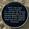 Plaque on the White Lion House, Caerleon