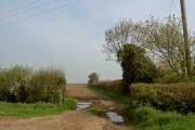 Gate into Leicestershire farmland