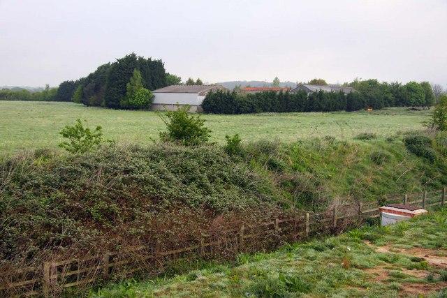 Long Furlong Farm from the A34