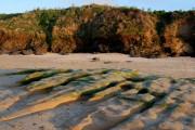 Eroded rocks, Harlyn Bay