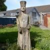 Wood carving of King Arthur, Caerleon