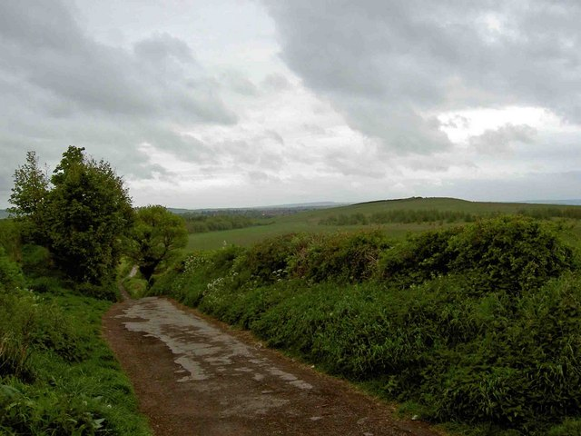 The bridleway from Great Houghton to Little Houghton