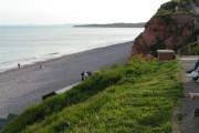 Budleigh Salterton beach from the coast path