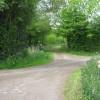 Footpath crosses Hurstwood Road