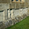 Stone figures and plaques, St Bartholomew's church, Churchdown