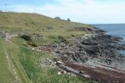 The rocky shore of Bàgh Chàirminis