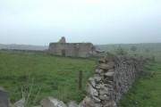 Derelict farm buildings above Cressbrook Dale