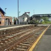On the platform at Castlerock railway station