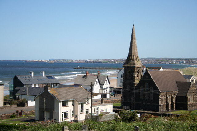 Christ Church, Castlerock  from a hill by Tunnel Brae