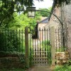Gate and path from Feniton churchyard