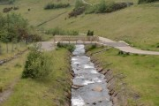 The Afon Garw just to the north of Blaengarw