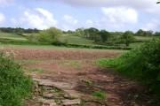 Ploughed field near Luton