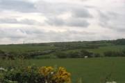 View south eastwards across pasture land towards Pennant Cottage