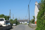 Traditional cottages at Carreglefn