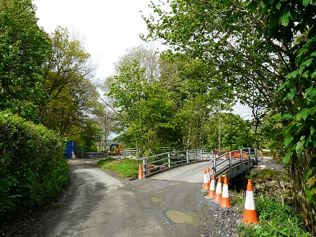 Road diverted for bridge building