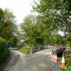 Road diverted for bridge building